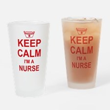 Keep Calm Nurse Drinking Glass
