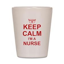 Keep Calm Nurse Shot Glass