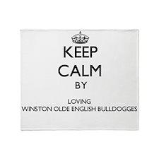 Keep calm by loving Winston Olde Eng Throw Blanket