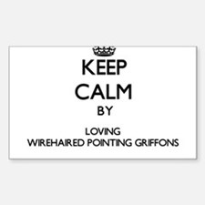 Keep calm by loving Wirehaired Pointing Gr Decal