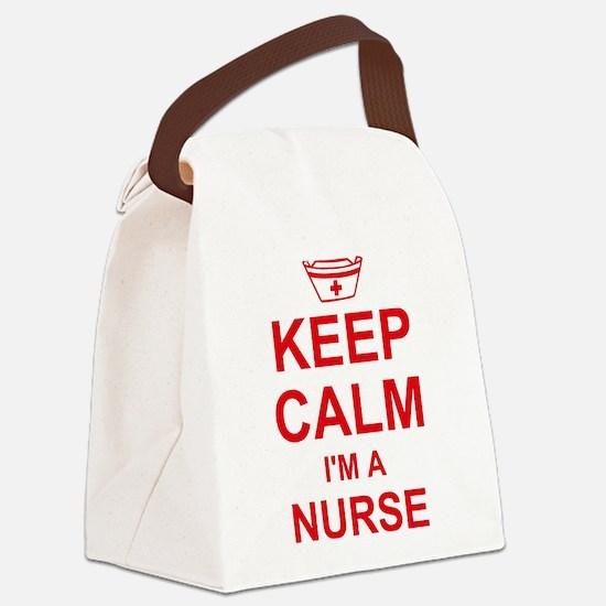 Keep Calm Nurse Canvas Lunch Bag