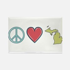 Peace Love Michigan Magnets