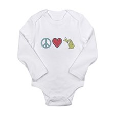 Peace Love Michigan Body Suit