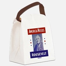 Cute Fdr Canvas Lunch Bag
