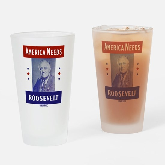 Cute Campaign Drinking Glass