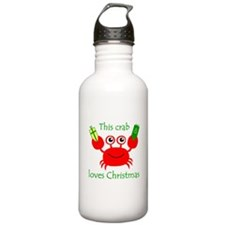 Christmas Crab Water Bottle