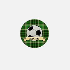 Soccer Pitch Plaid Mini Button