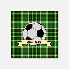 Soccer Pitch Plaid Sticker