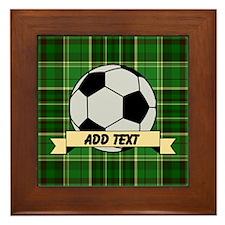 Soccer Pitch Plaid Framed Tile