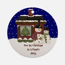 2014 First Christmas As A Family Ornament (round)