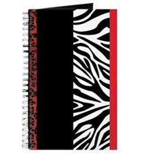 Red Leopard and Zebra Animal Print Journal