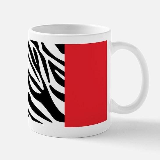 Red Leopard and Zebra Animal Print Mugs