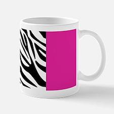 Hot Pink Leopard and Zebra Animal Print Mugs
