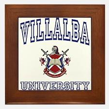 VILLALBA University Framed Tile