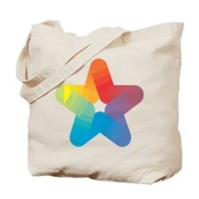 Rainbow Star Tote Bag