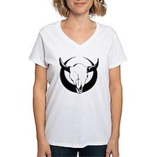 Bull Skull Over Crescent Mo Shirt
