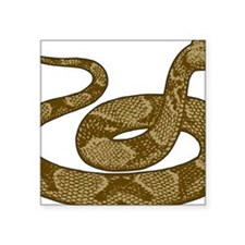 "coiled copperhead snake Square Sticker 3"" x 3"""