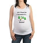 Christmas Snow Maternity Tank Top