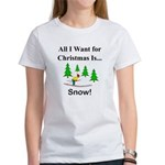Christmas Snow Women's T-Shirt