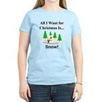 Christmas Snow Women's Light T-Shirt