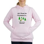 Christmas Snow Women's Hooded Sweatshirt