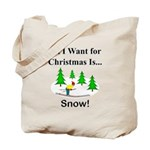 Christmas Snow Tote Bag