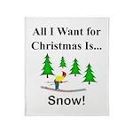 Christmas Snow Throw Blanket