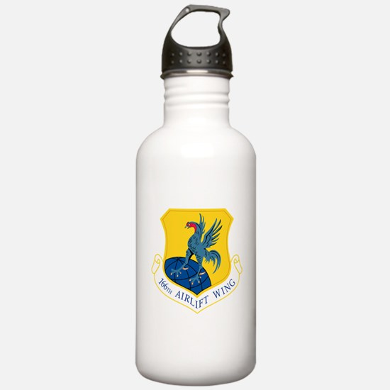 166th Airlift Wing.png Water Bottle