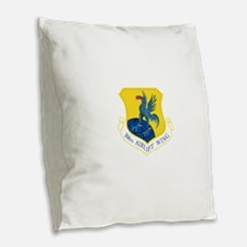 166th Airlift Wing.png Burlap Throw Pillow