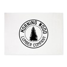 Morning wood lumber company 5'x7'Area Rug