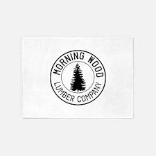 Morning wood lumber company 5'x7'Area Rug