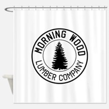 Morning wood lumber company Shower Curtain