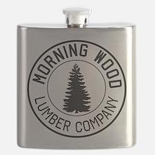 Morning wood lumber company Flask