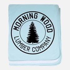 Morning wood lumber company baby blanket