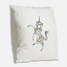 Unicorn Burlap Throw Pillow