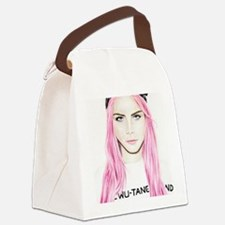 Pink Cara Canvas Lunch Bag