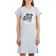 Unique Peace love rock and roll Women's Nightshirt
