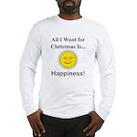 Christmas Happiness Long Sleeve T-Shirt