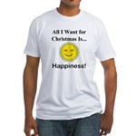 Christmas Happiness Fitted T-Shirt