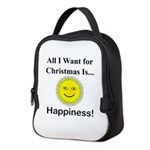 Christmas Happiness Neoprene Lunch Bag