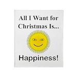 Christmas Happiness Throw Blanket