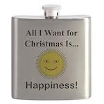 Christmas Happiness Flask