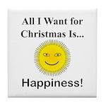 Christmas Happiness Tile Coaster