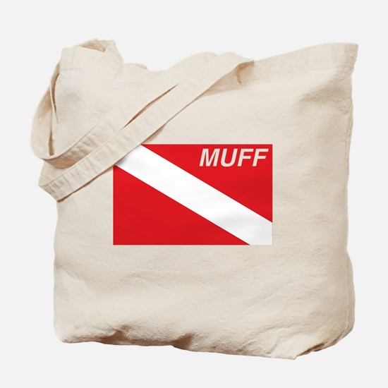 Muff Diver Tote Bag