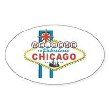 Fabulous Chicago Oval Decal