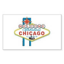Fabulous Chicago Rectangle Decal