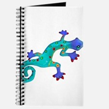 Turquoise Lizard with Red Toes Journal
