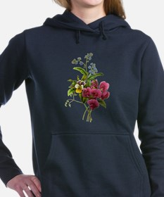 Sweet Peas and Forget me nots002 Women's Hooded Sw