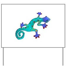 Turquoise Lizard with Red Toes Yard Sign