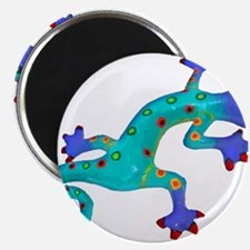 Turquoise Lizard with Red Toes Magnets
